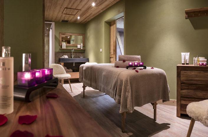 Espace massage à l'oxalys