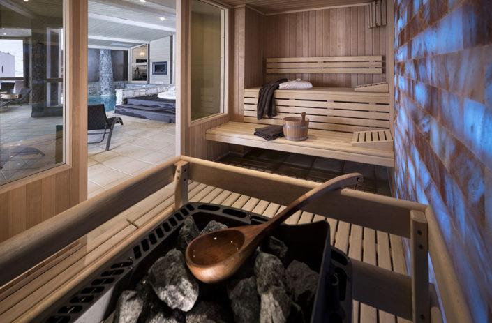 Espace sauna à l'oxalys